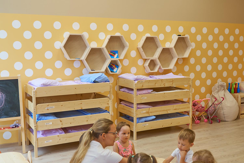 Спальные места, кроватки в садике франшизы Binny
